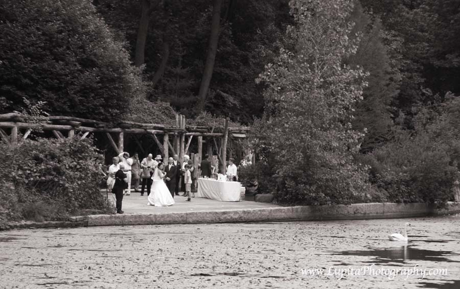 Beautiful wedding in Prospect Park. Brooklyn, New York City.