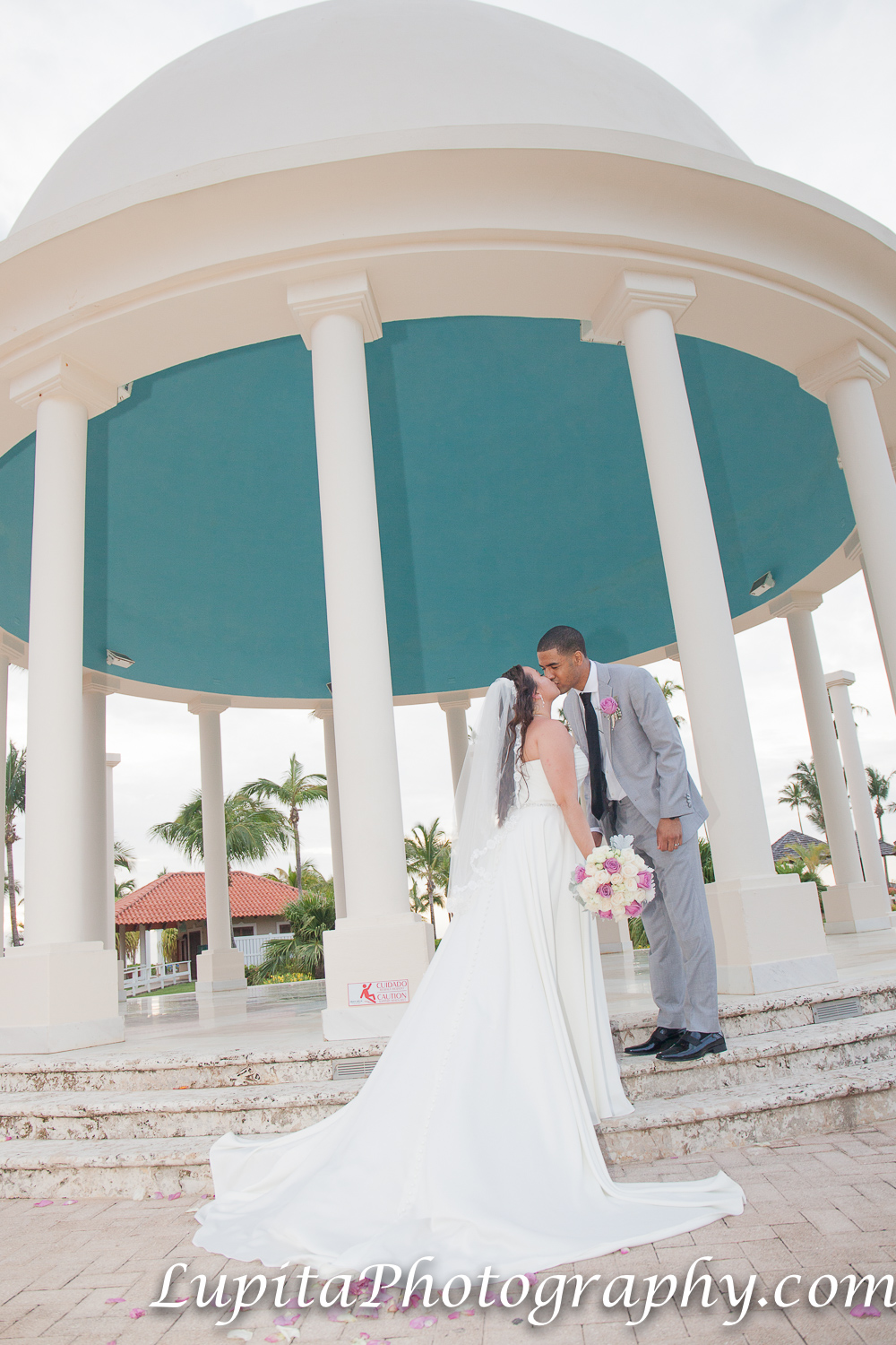 Meliá Coco Beach Resort. Rio Grande. Puerto Rico. The newly-wed couple celebrating their special day.