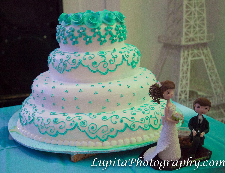 Estado de México, México - El pastel de la boda. The wedding cake.