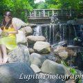 Latina girl celebrating her Sweet 15 in Prospect Park. Brooklyn. New York City.