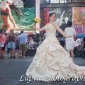Quinceañera celebrating her birthday. Times Square. New York City.