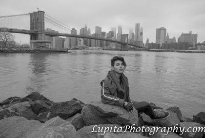 Brooklyn Bridge Park and Downtown Manhattan. NYC.