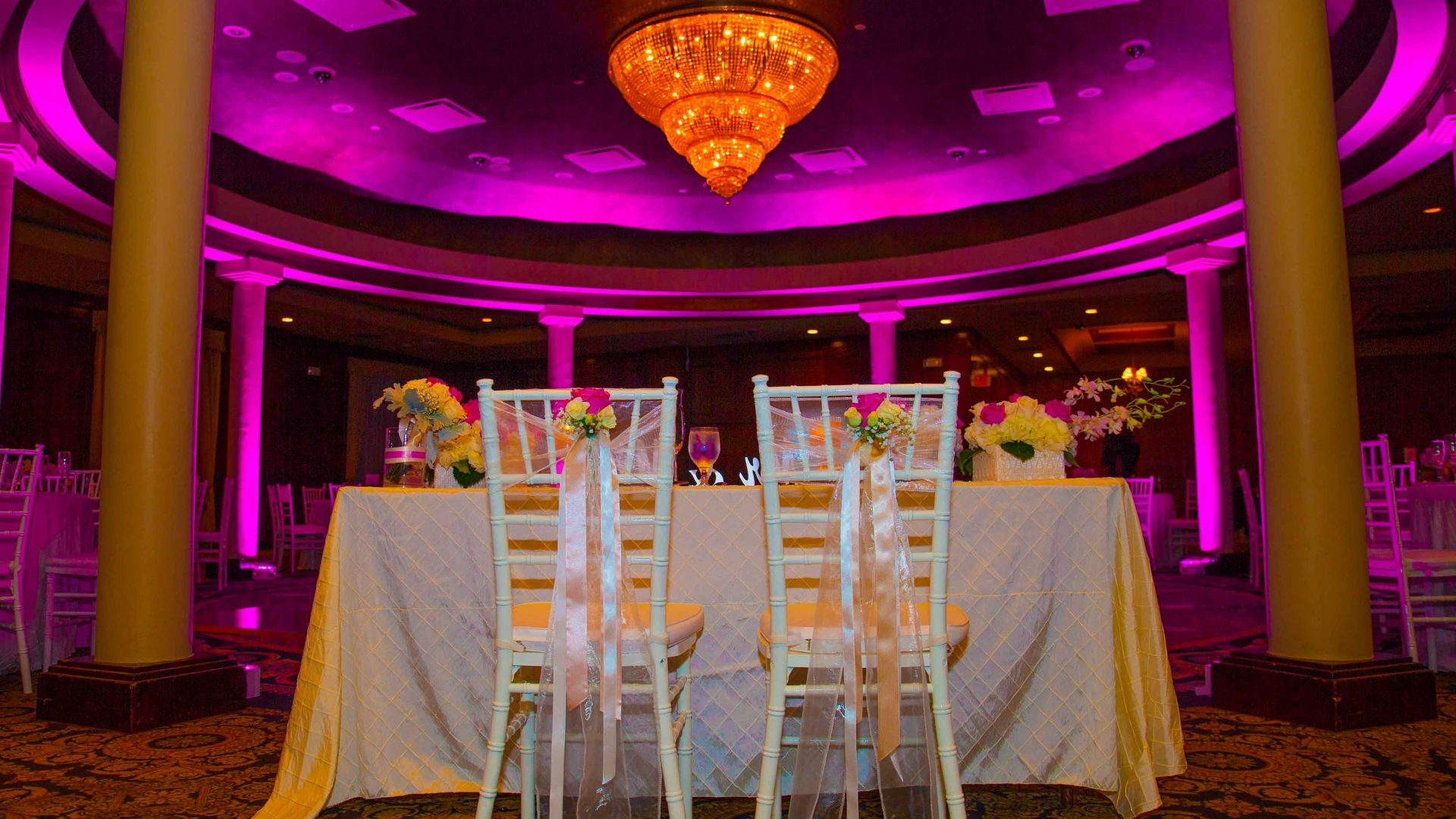 Meliá Coco Beach Resort. Rio Grande. Puerto Rico. The hall is beautiful. Waiting for the newly-wed couple and the guests.